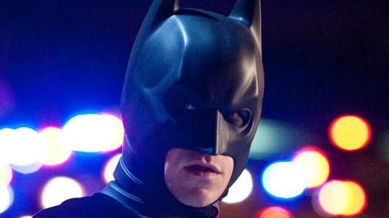 The Dark Knight looking intense