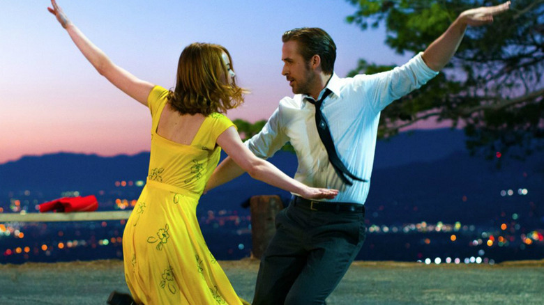 Ryan Gosling as Sebastian Wilder and Emma Stone as Mia Dolan in La La Land