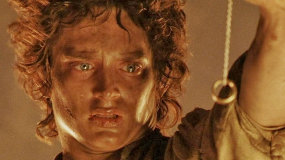 Frodo tempted by the Ring