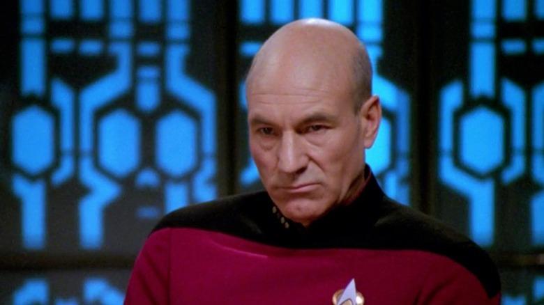 "Patrick Stewart as Jean-Luc Picard in ""The Drumhead"""