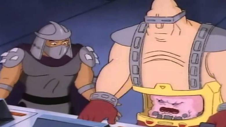 Shredder and Krang cartoon