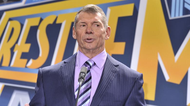 Vince McMahon at podium