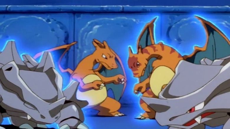 The cloned Pokemon face off in Pokemon: The First Movie