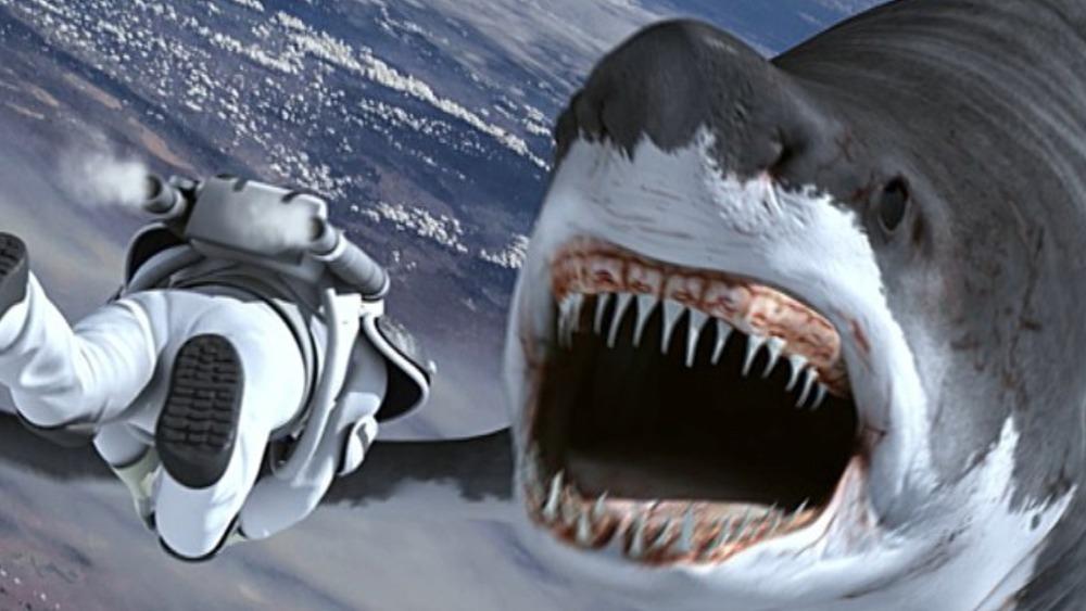 Syfy's Sharknado 3 attacking astronaut