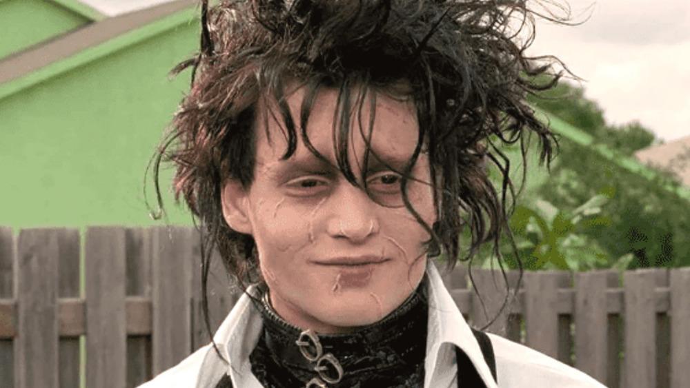 Edward Scissorhands smiling
