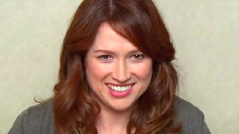 Erin Hannon smiling during interview