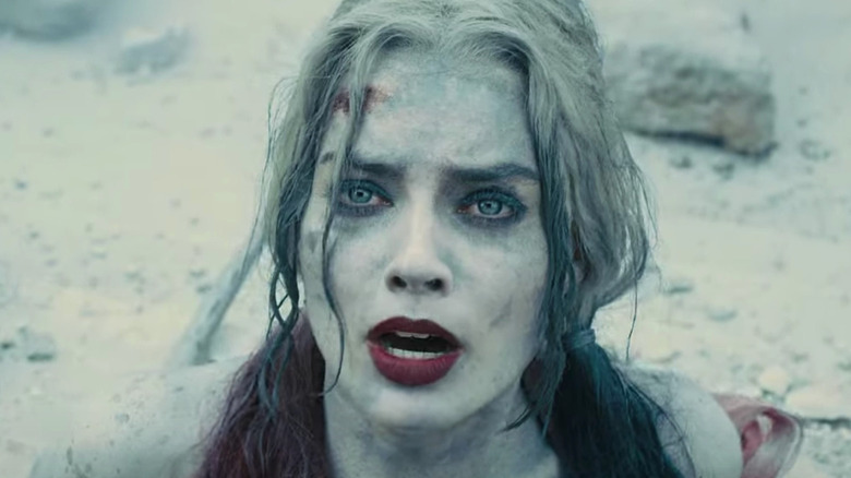 Harley Quinn looking worried