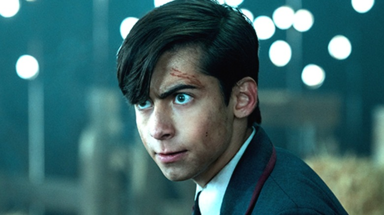 Number Five looking intense and bleeding in The Umbrella Academy