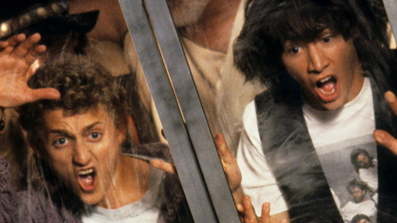 Bill and Ted screaming