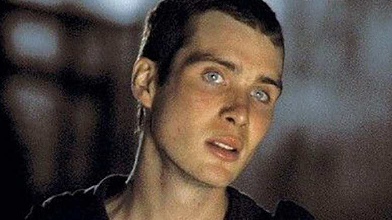 Jim looking at something off-camera in 28 Days Later
