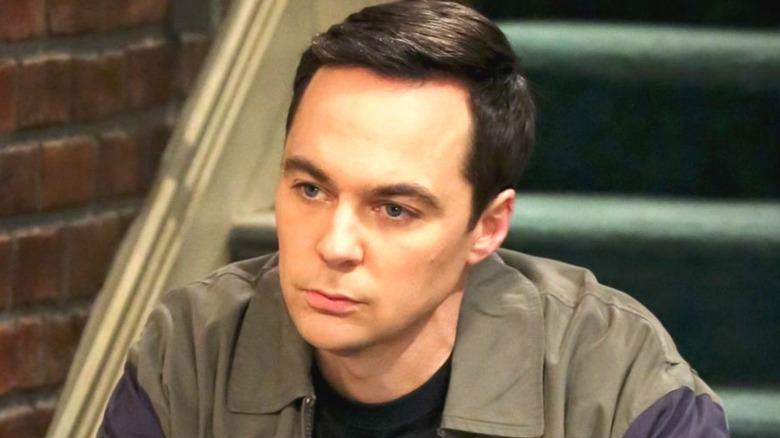 Sheldon sitting and thinking