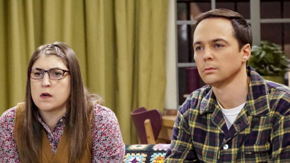 Mayim Bialik and Jim Parsons on The Big Bang Theory