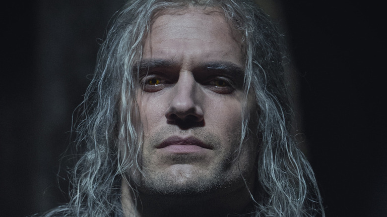 Geralt of Rivia staring straight ahead