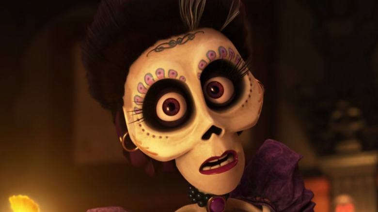 Coco's Mamá Imelda looks concerned