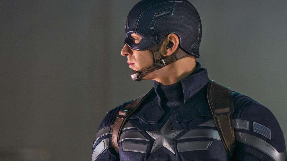 Chris Evans as Steve Rogers in Captain America: The Winter Soldier