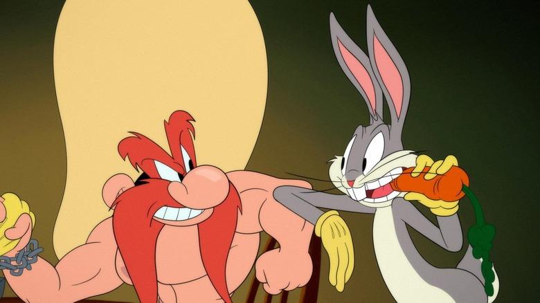 Yosemite Sam and Bugs Bunny on Looney Tunes Cartoons