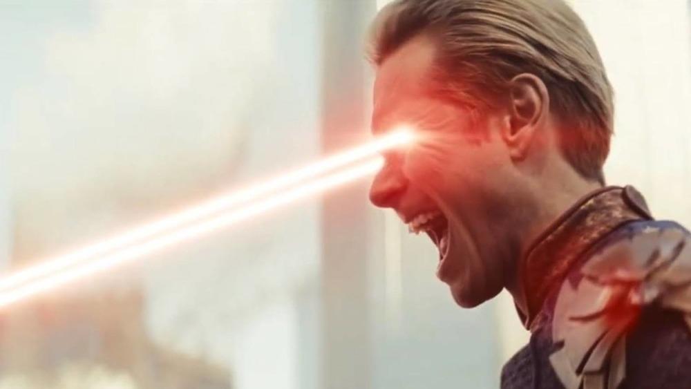 Homelander uses his laser vision on The Boys