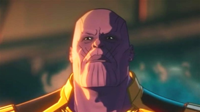 Thanos grimacing in What If...?