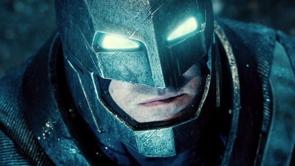 Batman with glowing eyes