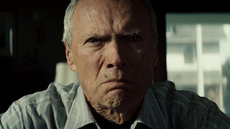 Clint Eastwood growling