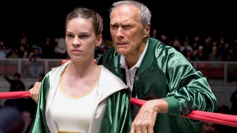 Clint Eastwood advising Hillary Swank