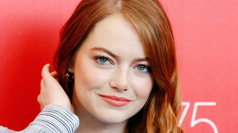 Emma Stone on a red carpet