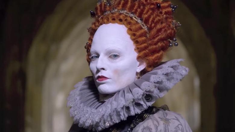 Queen Elizabeth I in white makeup
