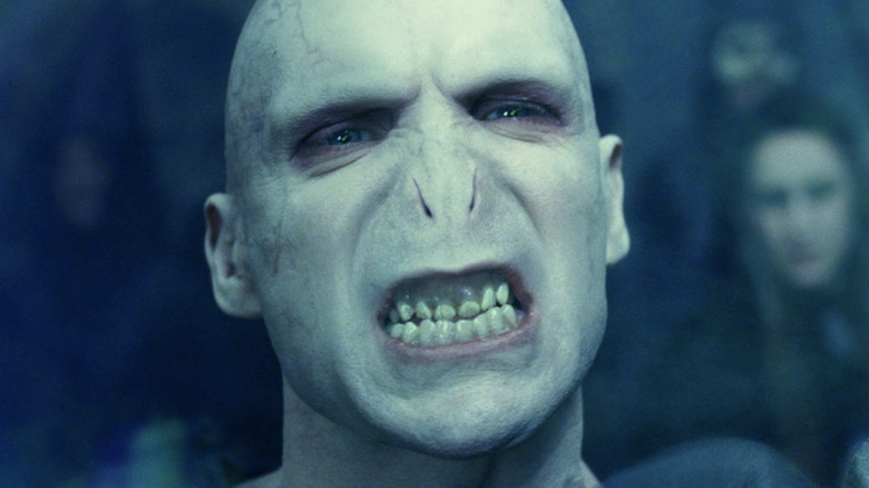 Voldemort smiles with teeth