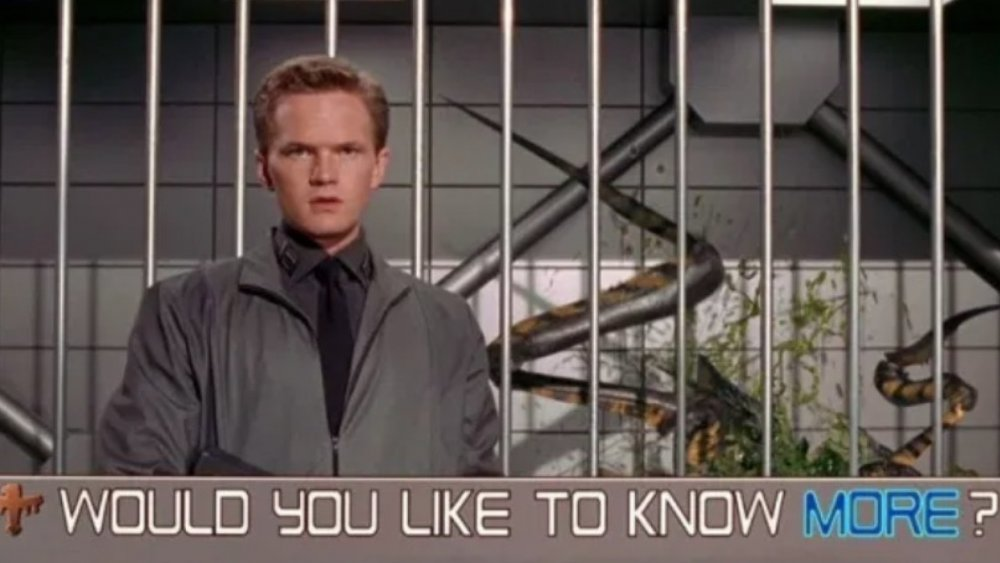 Neil Patrick Harris as Carl Jenkins, from Starship Troopers