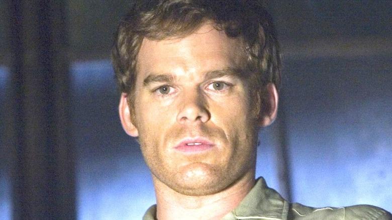Dexter staring