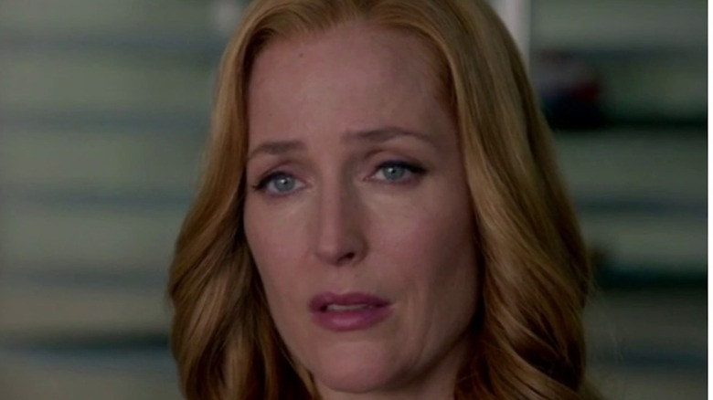 Scully crying