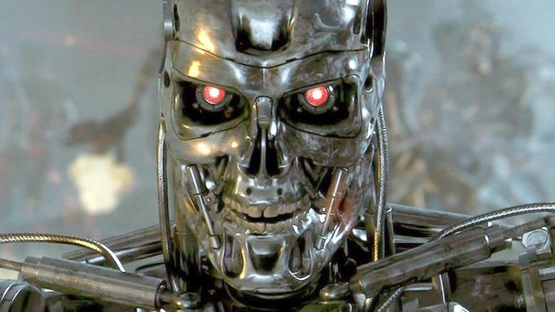 Terminator 2 robot on hunt