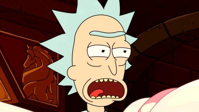 Rick Sanchez burping