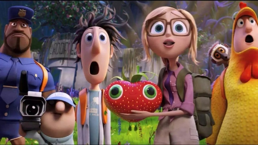 The cast of Cloudy with a Chance of Meatballs 2