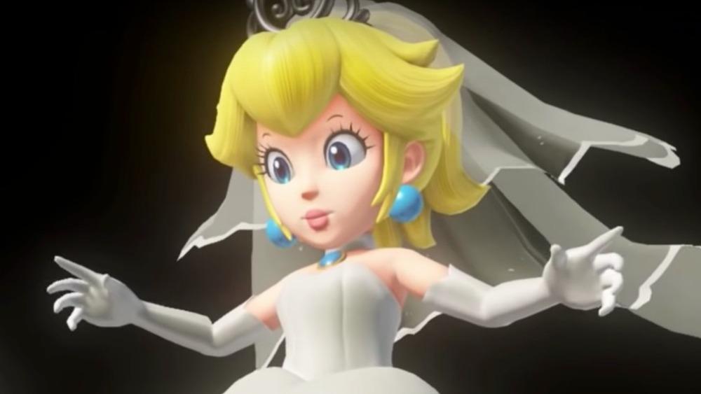 Princess Peach in wedding gown