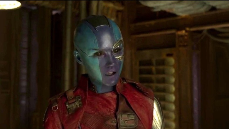 Karen Gillan goes blue to play Nebula in Guardians of the Galaxy