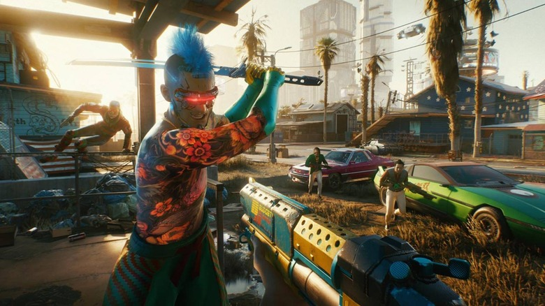 Cyberpunk 2077 puts you in the open-world setting of Night City