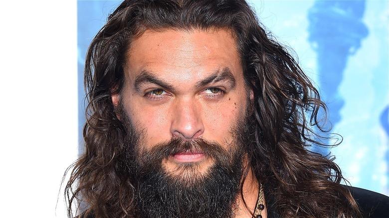 Jason Momoa Face Long Hair