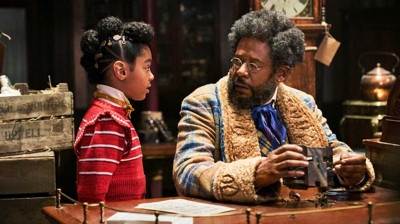 Forest Whitaker and Madalen Mills as Jeronicus and Journey in Jingle Jangle: A Christmas Journey