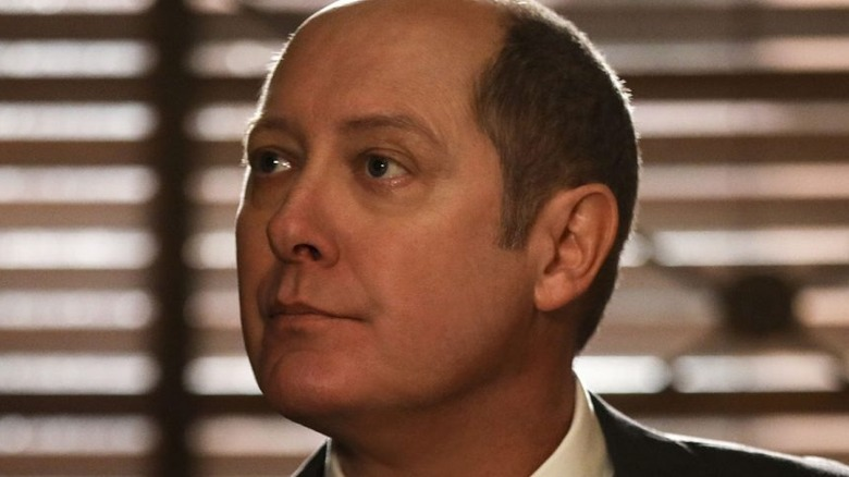 Red smiling in The Blacklist