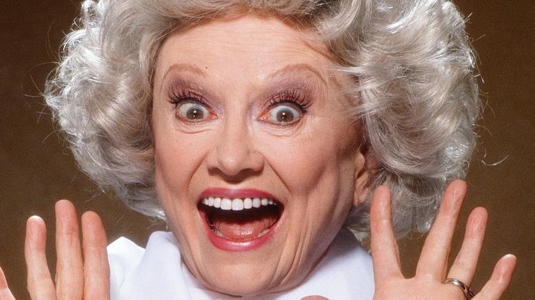 Phyllis Diller looking surprised