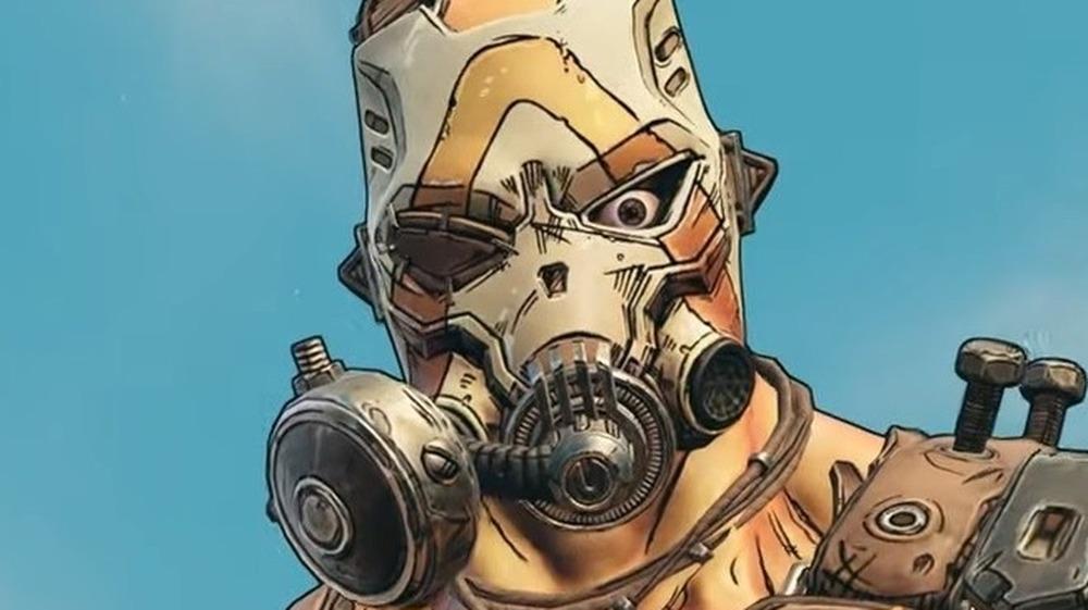 Krieg in gas mask