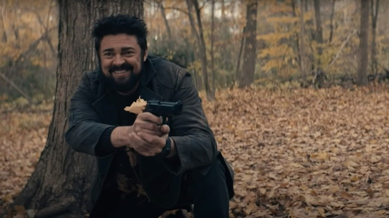 Karl Urban as Billy Butcher in The Boys season two bloopers