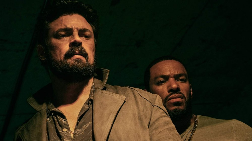 Karl Urban and Laz Alonso as Billy Butcher and Mother's Milk in Amazon's The Boys