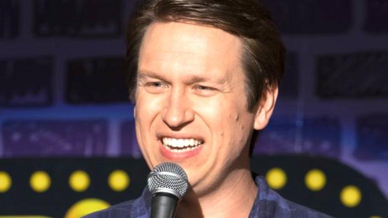 Crashing star Pete Holmes laughing