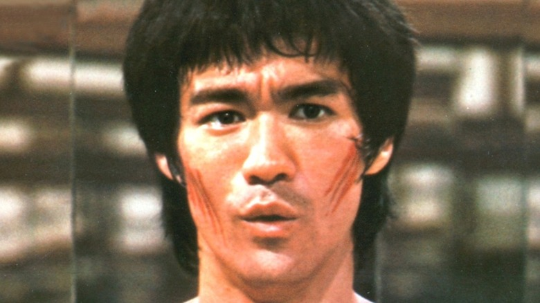 Bruce Lee with cuts