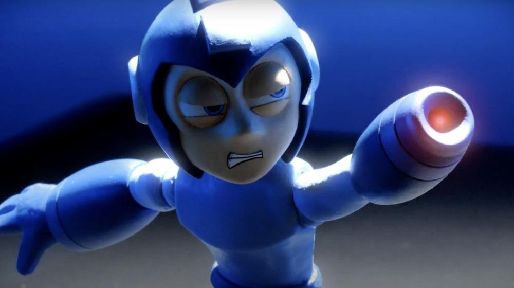 Mega Man pointing Mega Buster