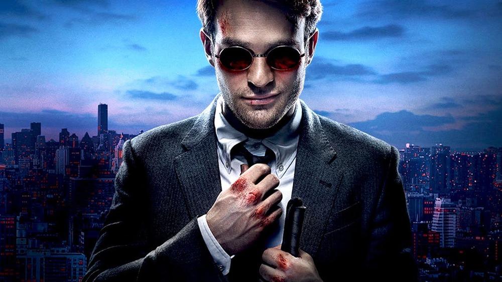 Charlie Cox as Matt Murdock in Daredevil promo poster