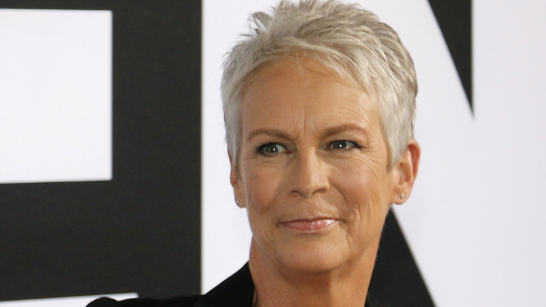 Jamie Lee Curtis smiling at event