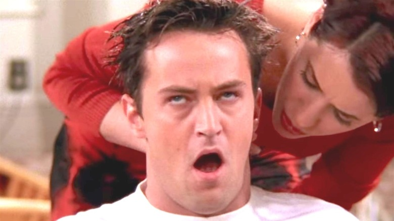 Chandler and Cathy in Friends